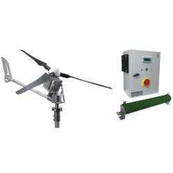 Set İ-1500W 24V Windsafe Korumalı Rüzgar Türbini + Hibrit Şarj Kontrol Cihazı iSTA-BREEZE