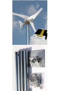 Set İ-500 Rüzgar Türbini + Şarj Kontrol Cihazı + Direk Seti  İSTA-BREEZE
