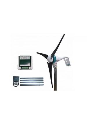 Set Air Speed 500W 24V Rüzgar Türbini + Hibrit Şarj Kontrol Cihazı + Direk Seti iSTA-BREEZE