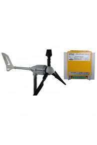 Set İ-1000W 24V Rüzgar Türbini + Hibrit Şarj Kontrol Cihazı iSTA-BREEZE
