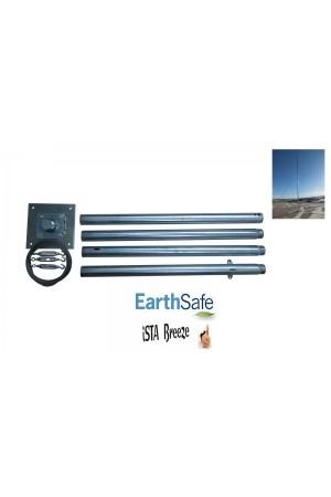 Rüzgar Türbini İçin Direk Seti 4 metre (45 kg) taşıma kapasiteli